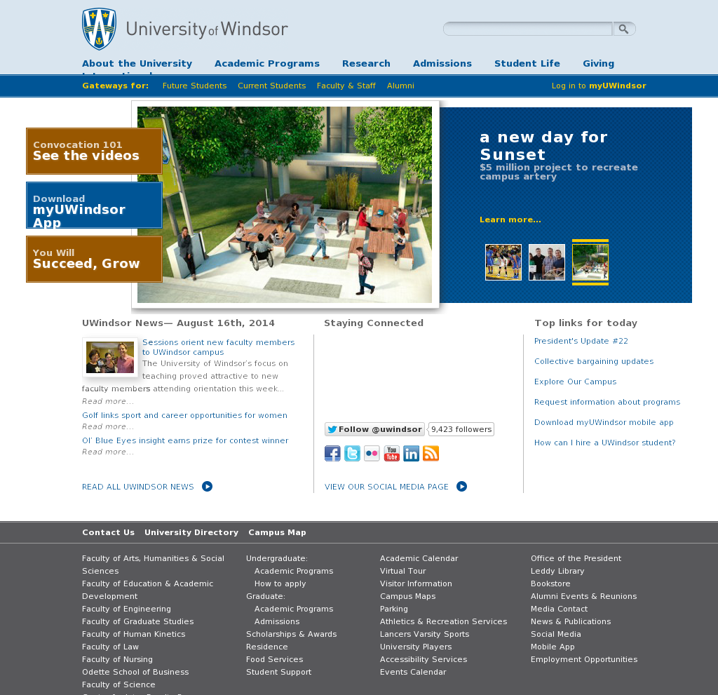 Uwindsor Campus Map.University Of Windsor Competitors Revenue And Employees Owler