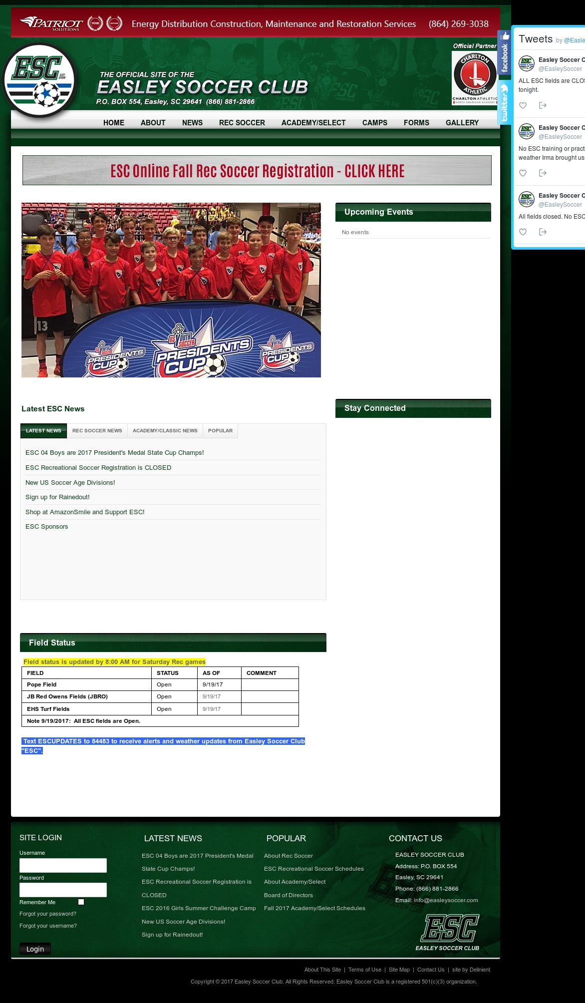 666f6f2c5 See screenshot ». May 2017. See screenshot ». + See more website history.  Owler has collected 11 screenshots of Easley Soccer Club s ...