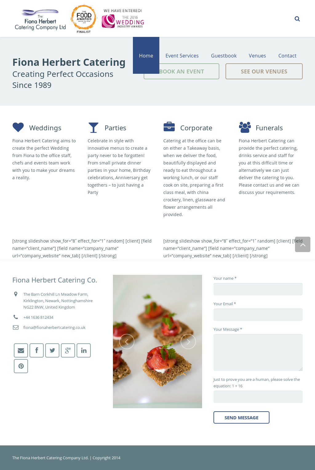 The Fiona Herbert Catering Company Competitors, Revenue and