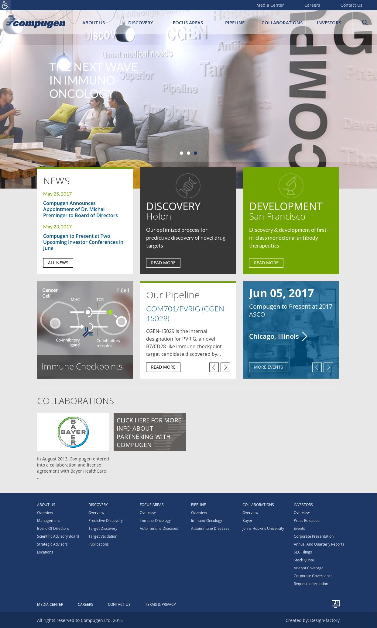 Compugen website history