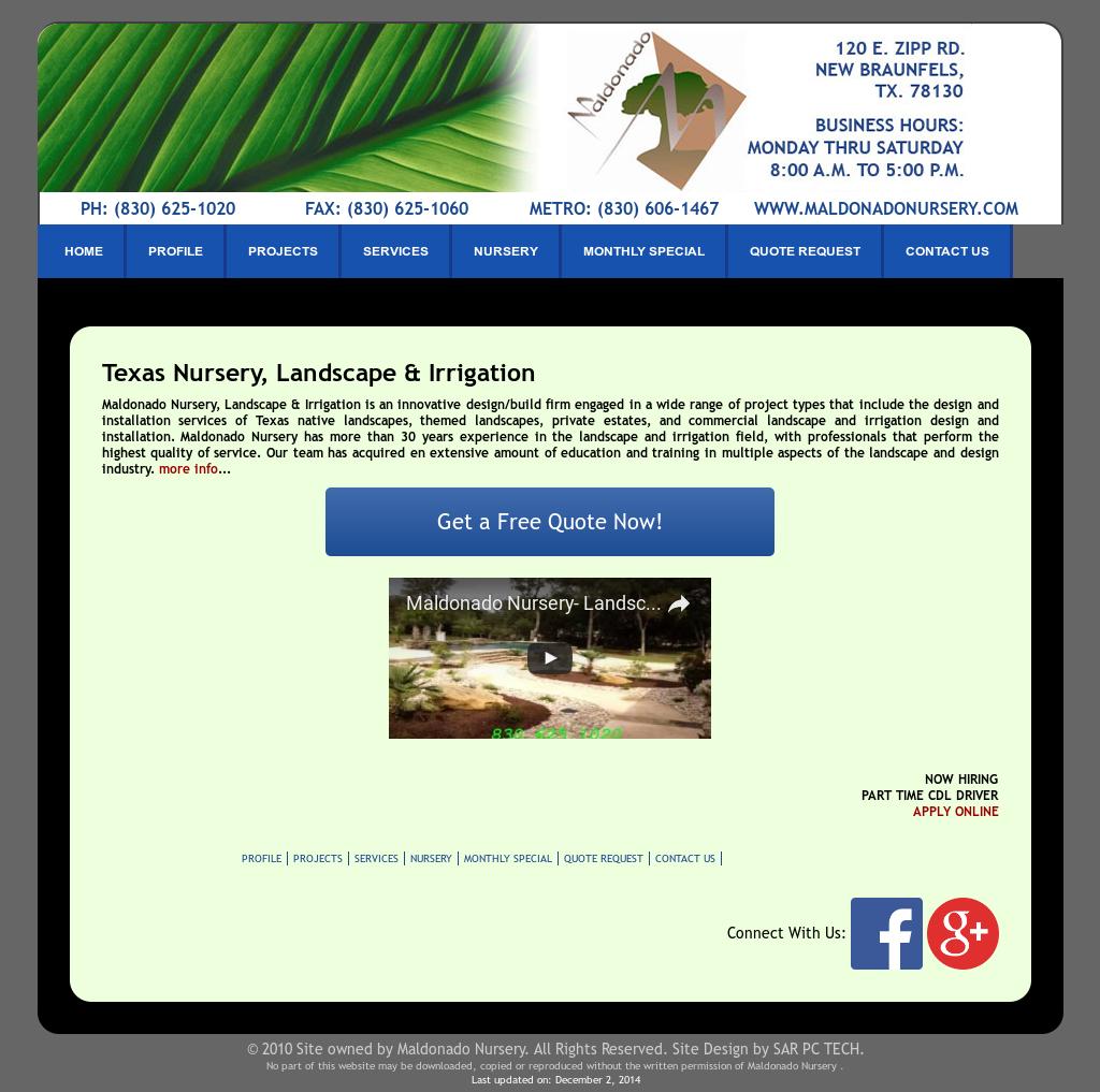 Maldonado Nursery Compeors Revenue And Employees Owler Company Profile