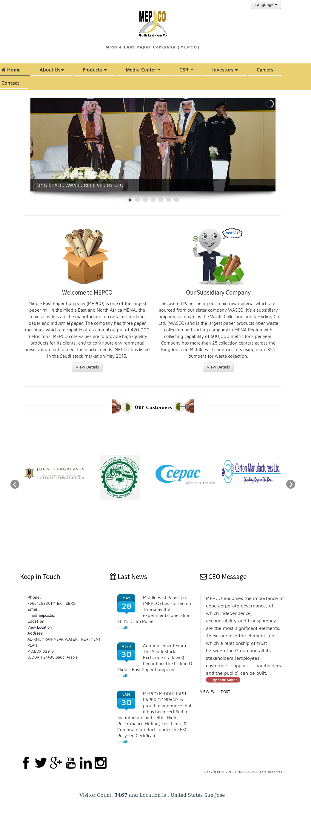 Owler Reports - Press Release: Mepco : MEPCO and WASCO