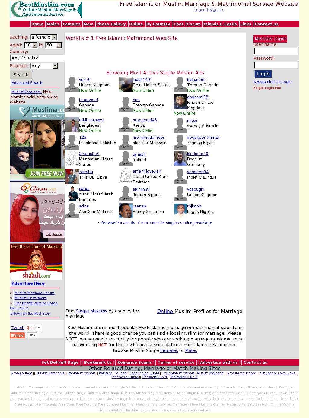 Bestmuslim Free Muslim Marriage Competitors, Revenue and Employees
