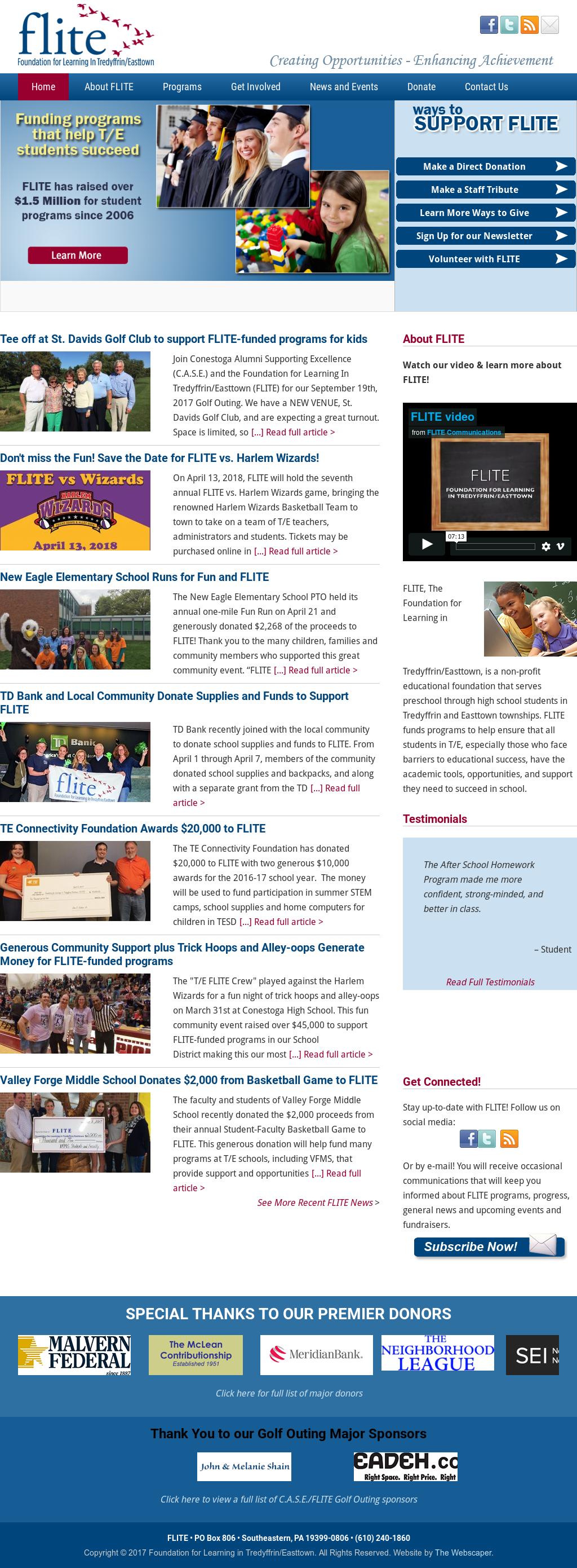 Flite: Foundation For Learning In Tredyffrin/easttown