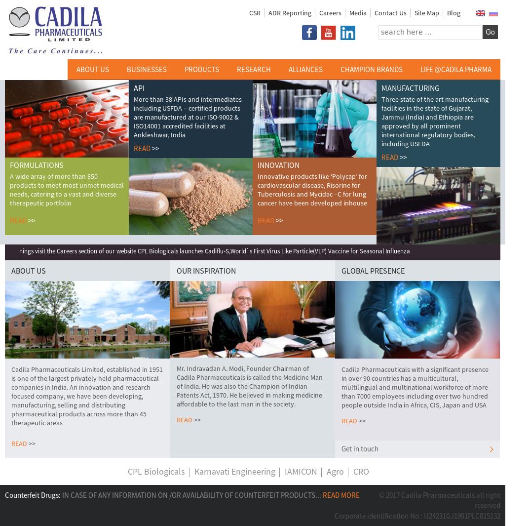 Cadila Pharmaceuticals Competitors, Revenue and Employees