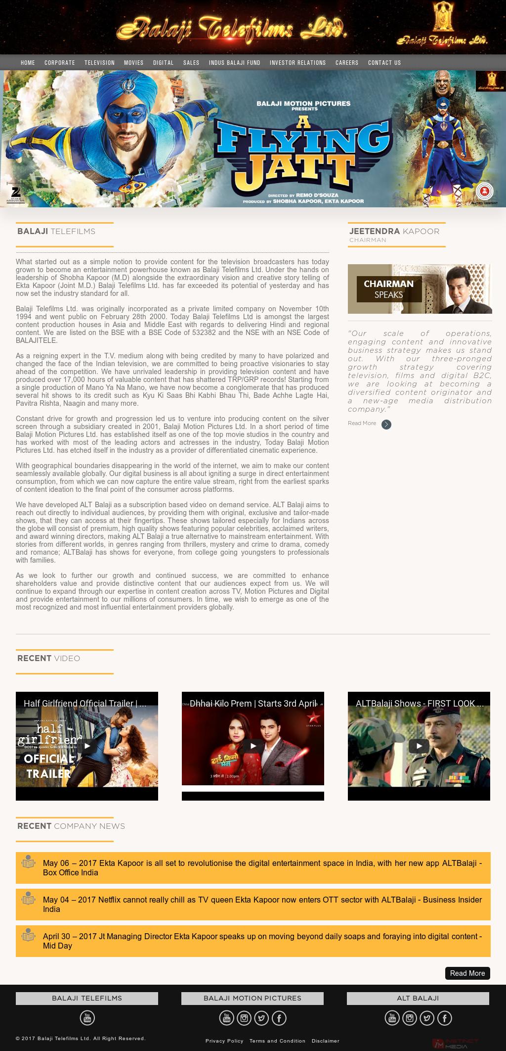 Balaji Telefilms Competitors, Revenue and Employees - Owler Company