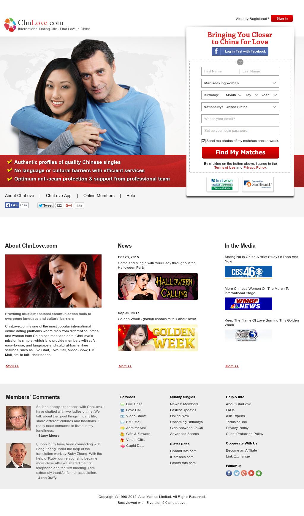 Chnlove website