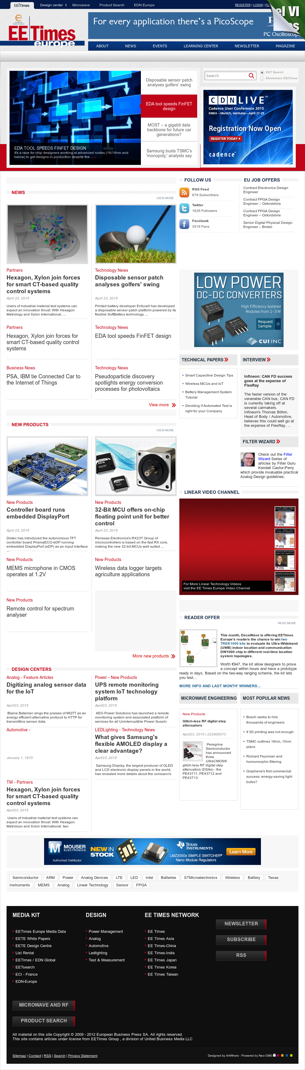 Electronics Eetimes Competitors, Revenue and Employees