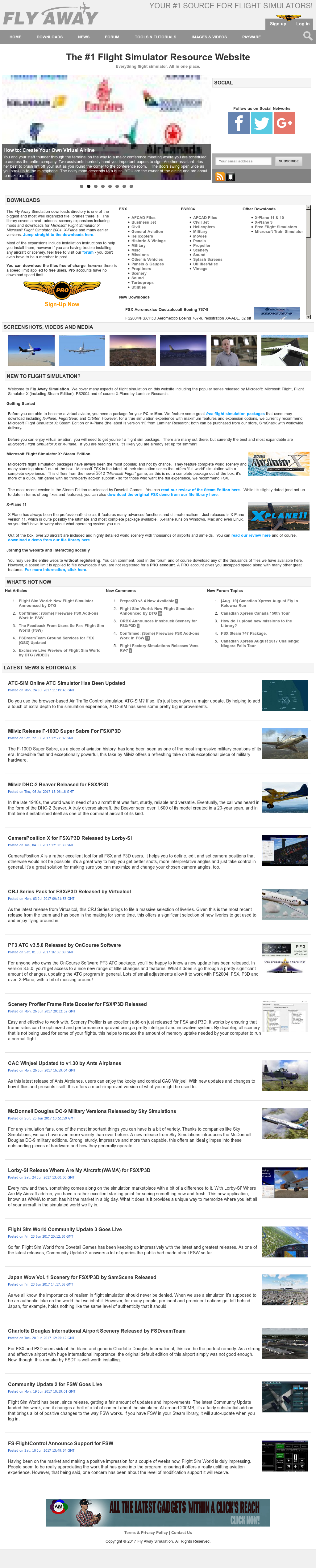 Owler Reports - Press Release: Fly Away Simulation : Fly