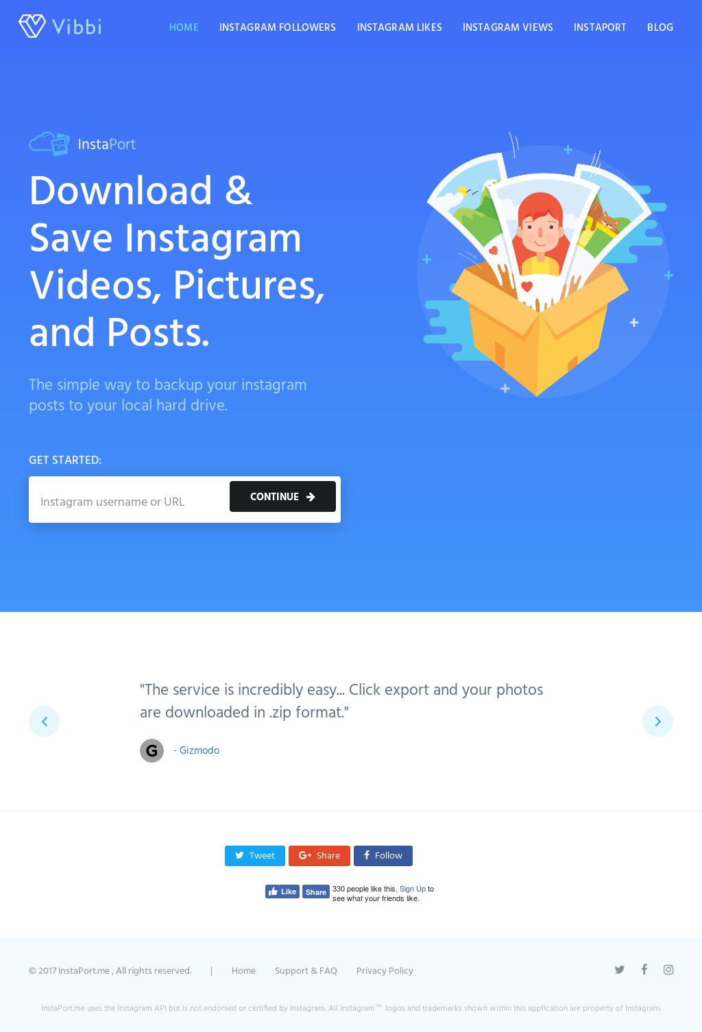 Instaport me - Export Your Instagram Photos Competitors