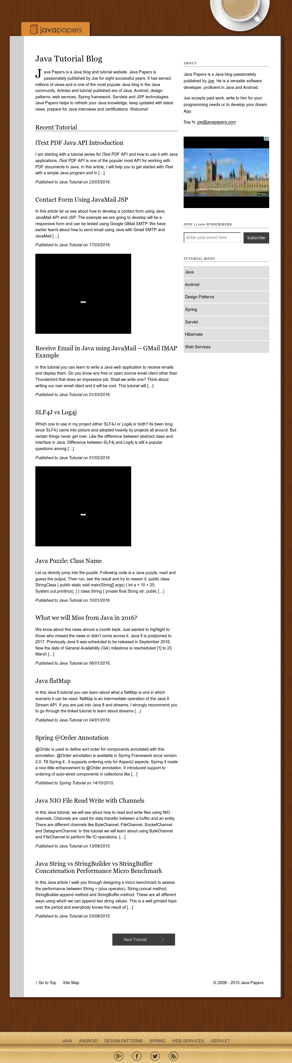 Owler Reports - Javapapers Blog Android App with Multi