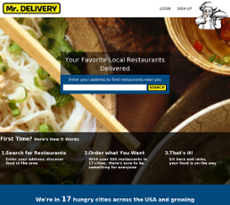 Mr. Delivery website history