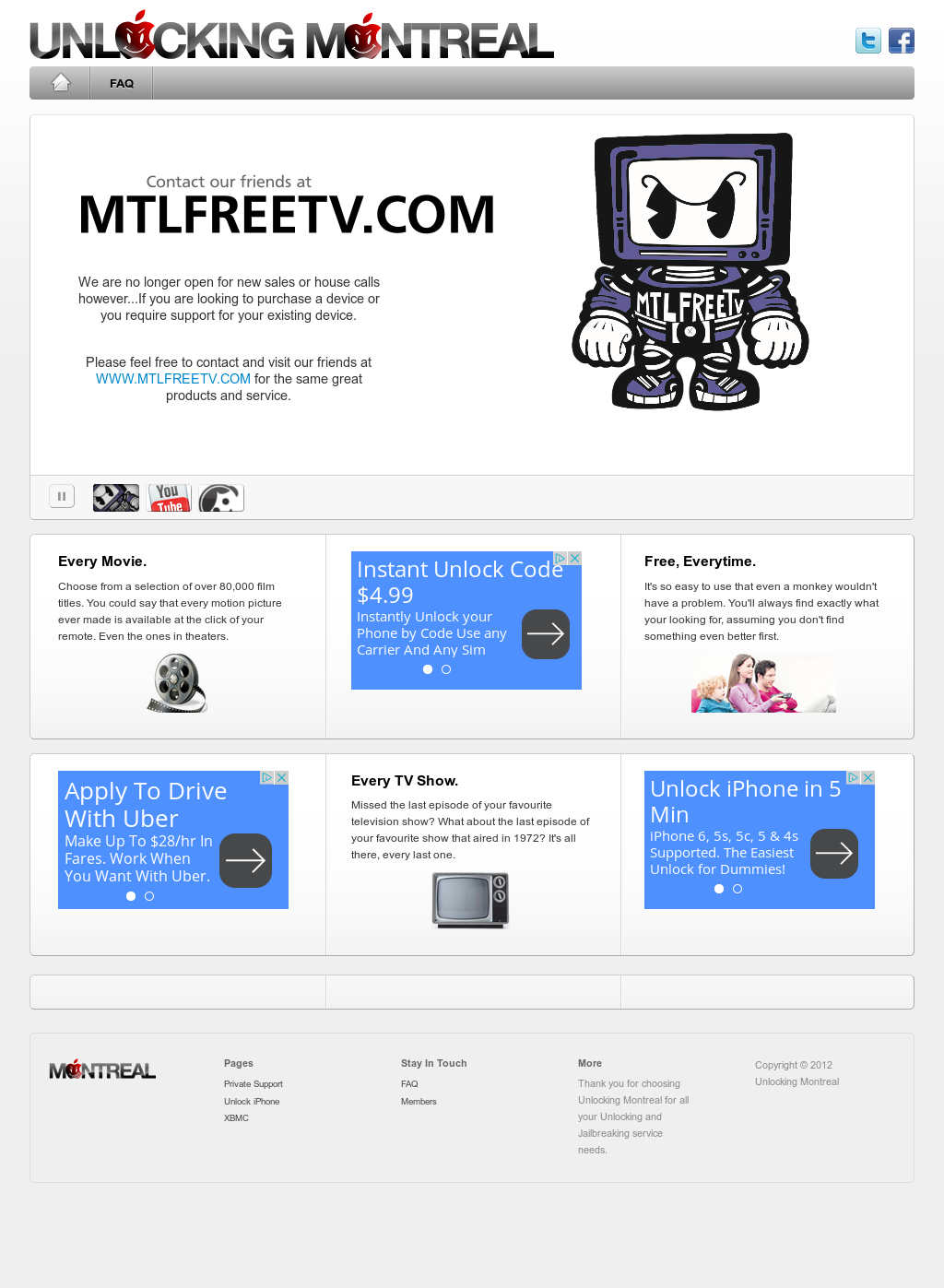 Montreal Free Tv - Mtlfreetv Competitors, Revenue and