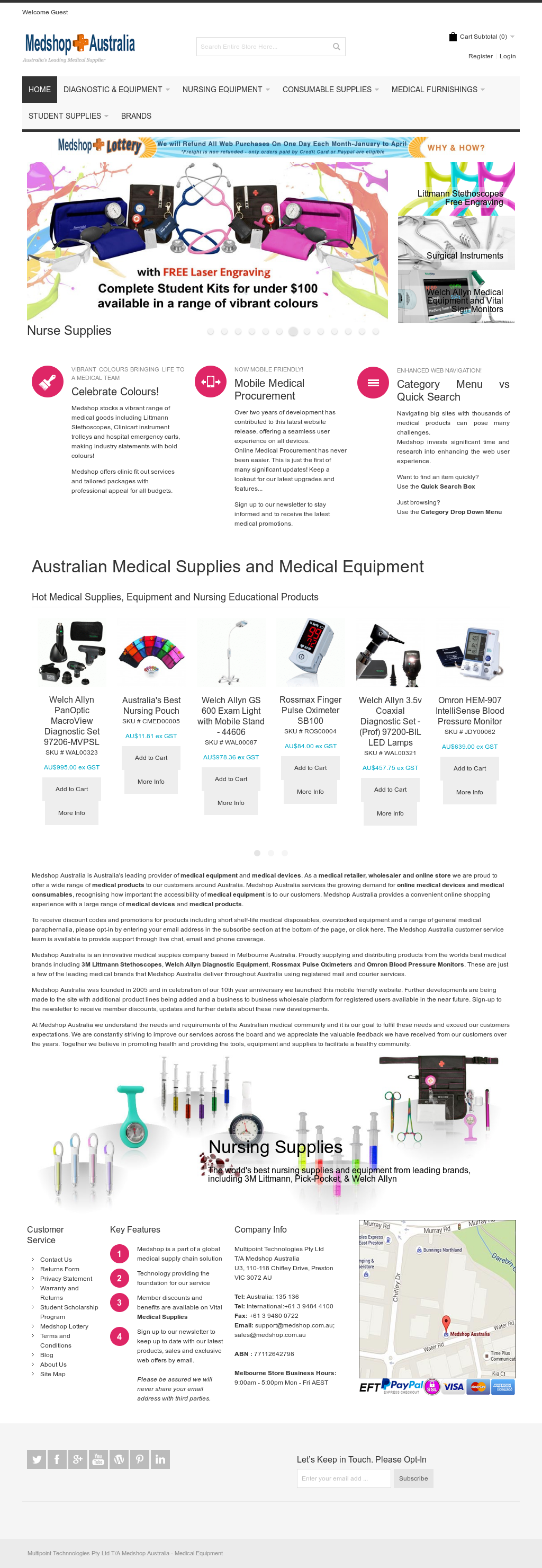 Medshop Australia Medical Supplies Competitors, Revenue and