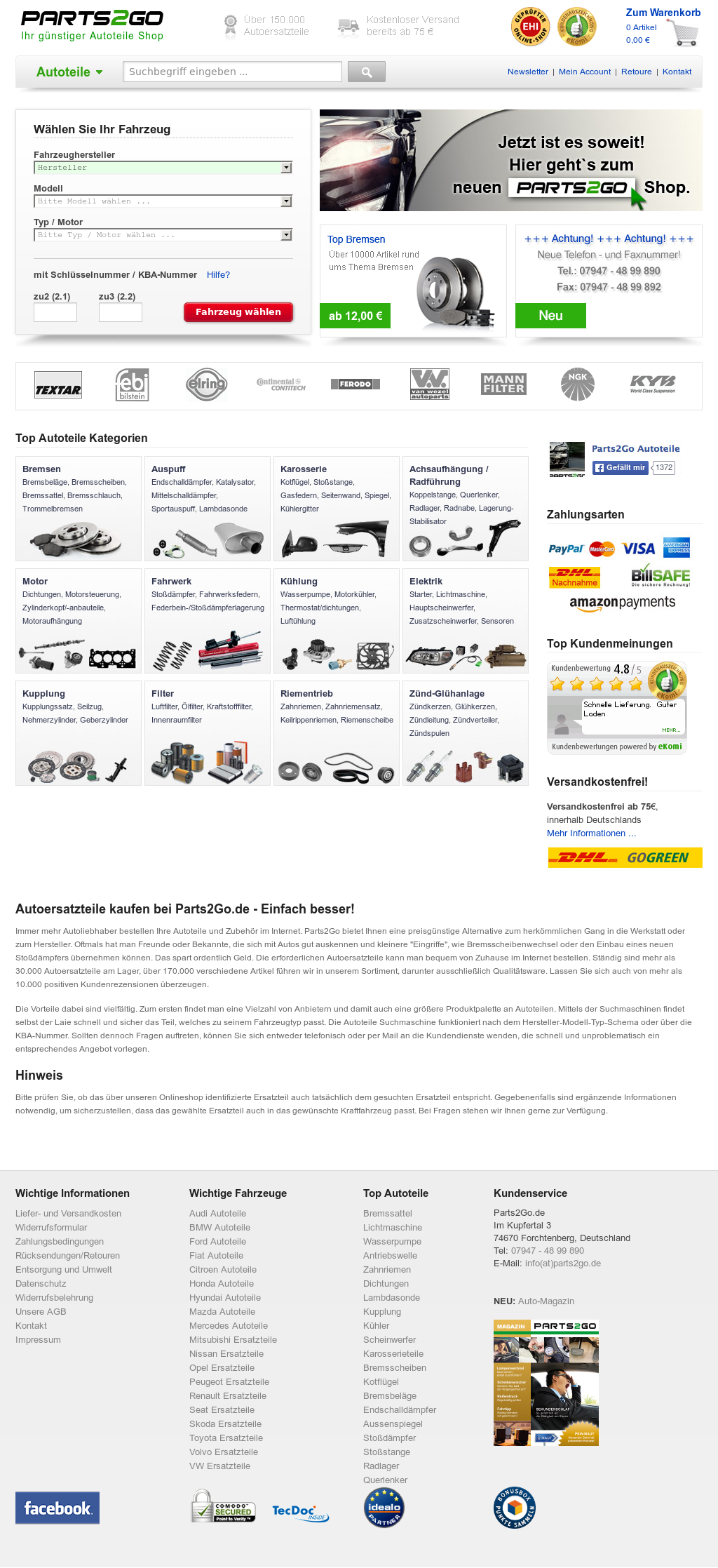 Parts2go Autoteile Competitors, Revenue and Employees - Owler ...