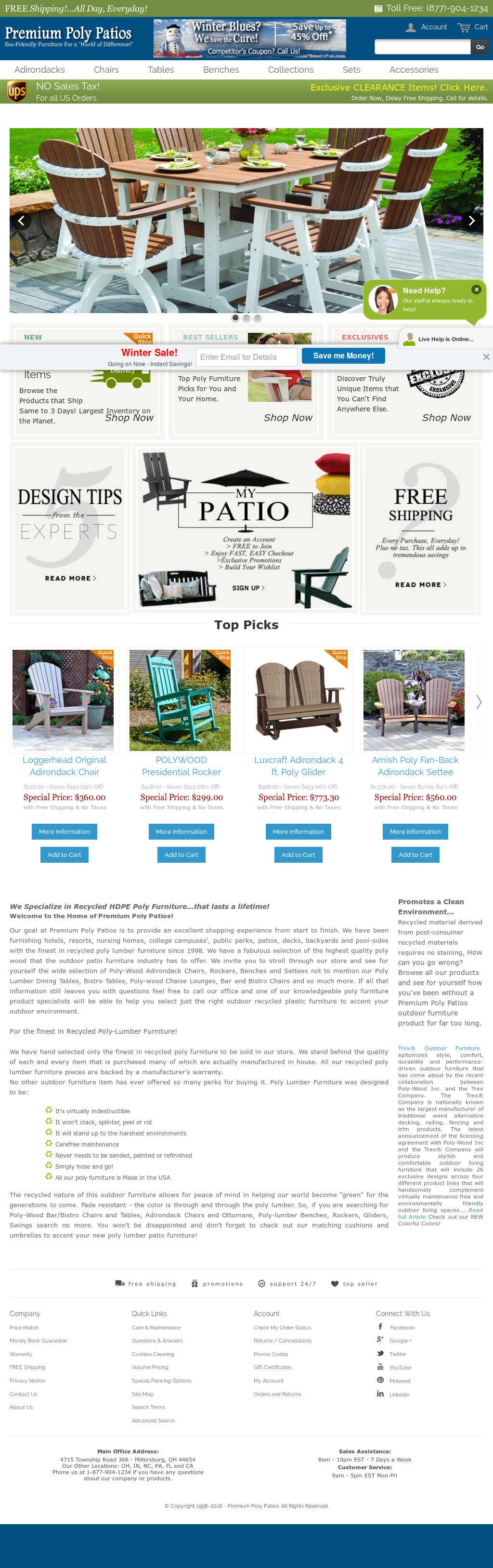 Premium Poly Patios Website History