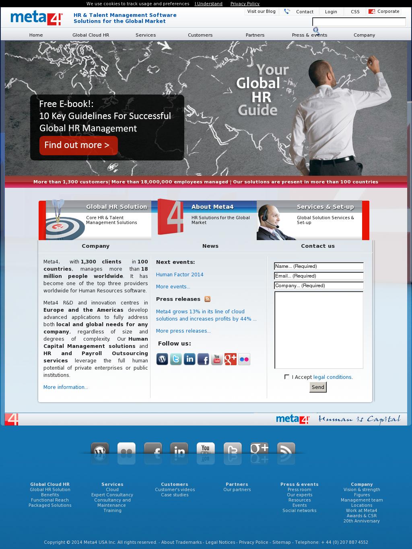Meta4 Competitors, Revenue and Employees - Owler Company Profile