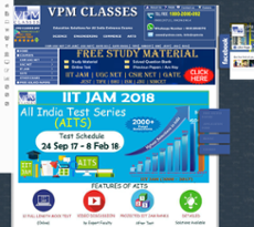 Vpm Classes website history