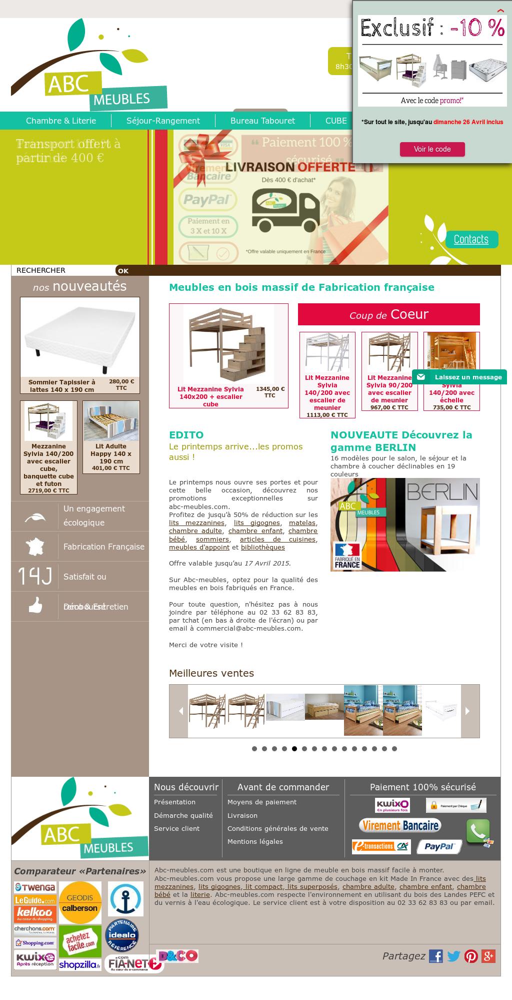 Lit Mezzanine Escalier Cube abc meubles competitors, revenue and employees - owler