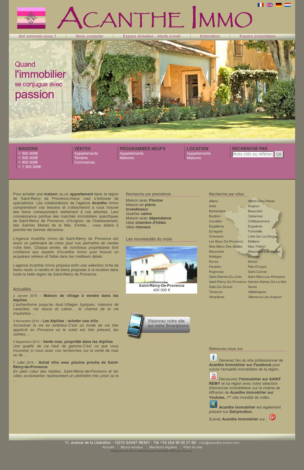 Plan De Maison Mas De Provence acanthe immobilier saint remy de provence les alpilles