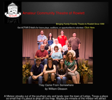 Amateur community theatre
