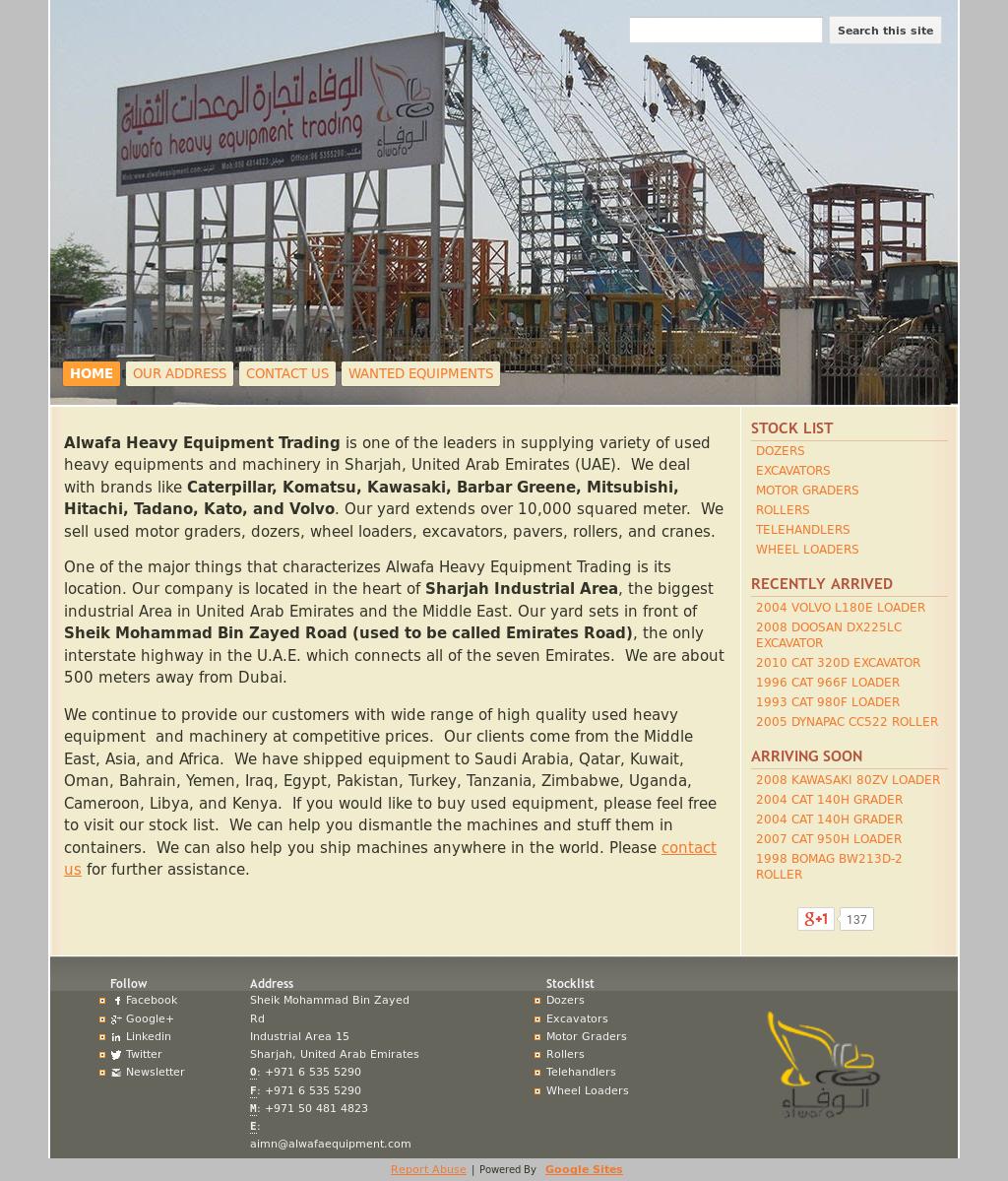 Alwafa Heavy Equipment Trading Competitors, Revenue and