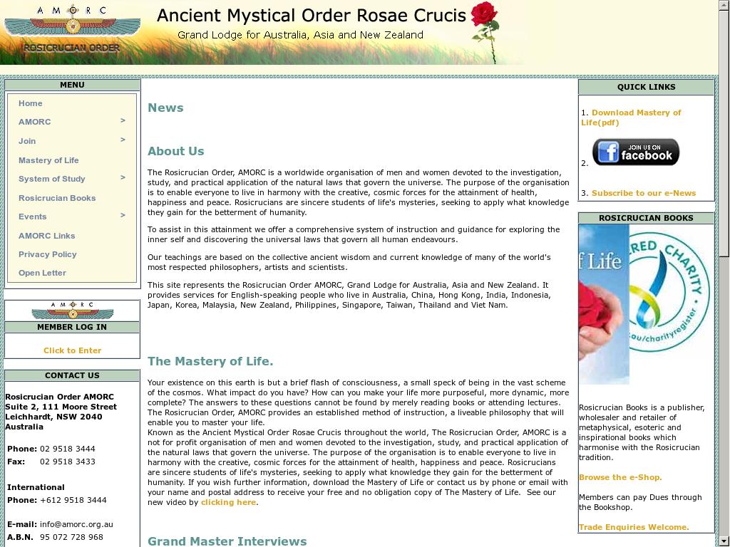 Rosicrucian Order Amorc Austral-asia Competitors, Revenue