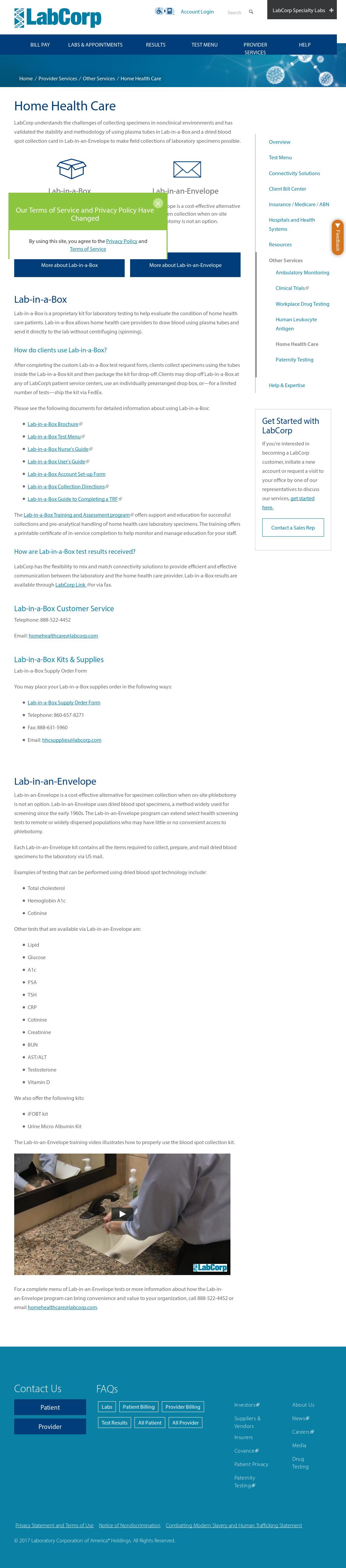 Home Heallthcare Laboratory Competitors, Revenue and