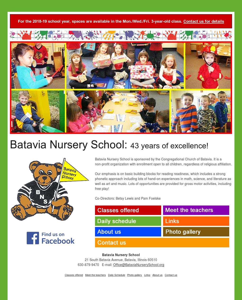 Batavia Nursery School Compeors