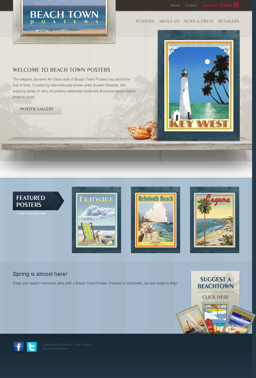 Beach Town Posters Website History