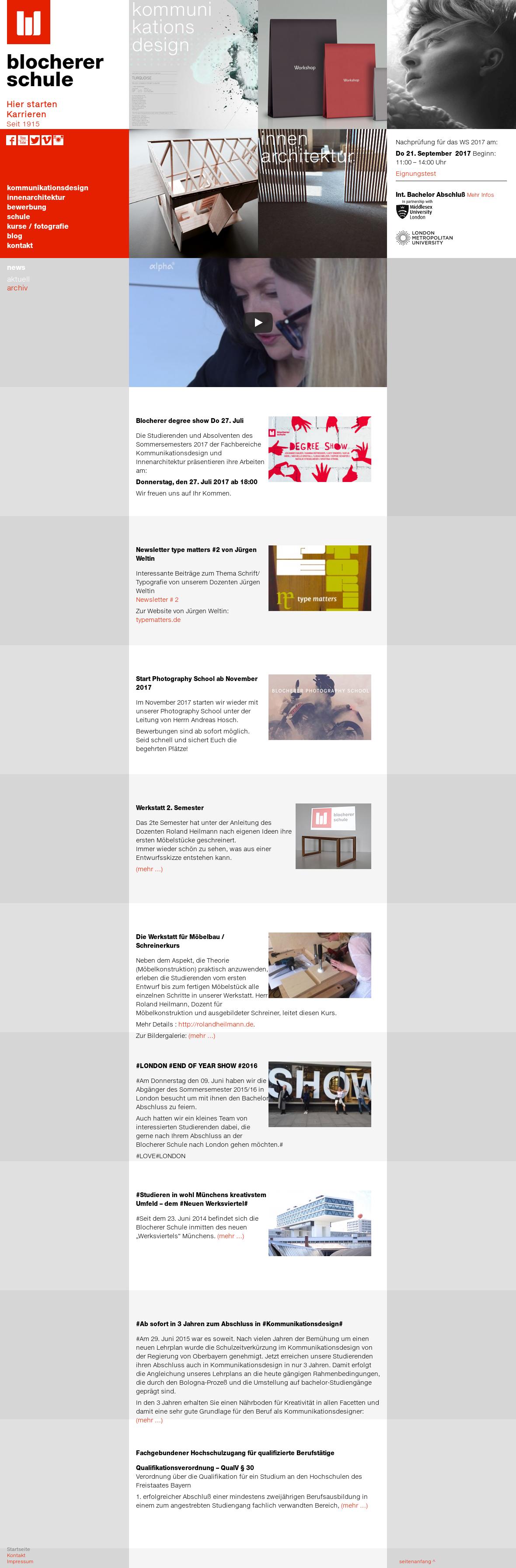 Wunderbar Blocherer Schule Website History