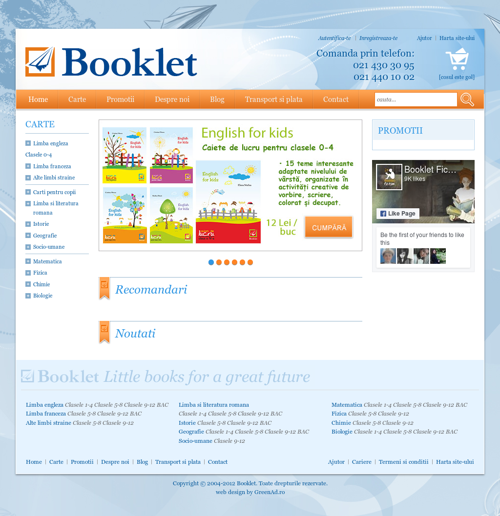 Realizare magazin online editura booklet | greenad.