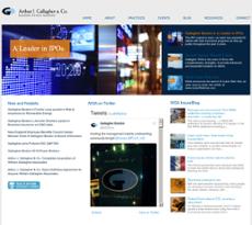 Arthur J. Gallagher website history