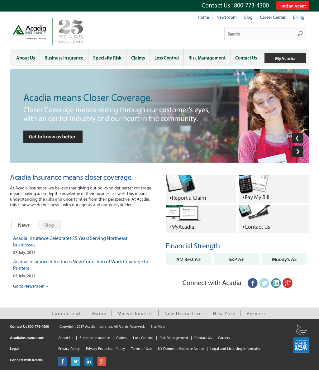 Acadia Insurance Competitors, Revenue and Employees - Owler