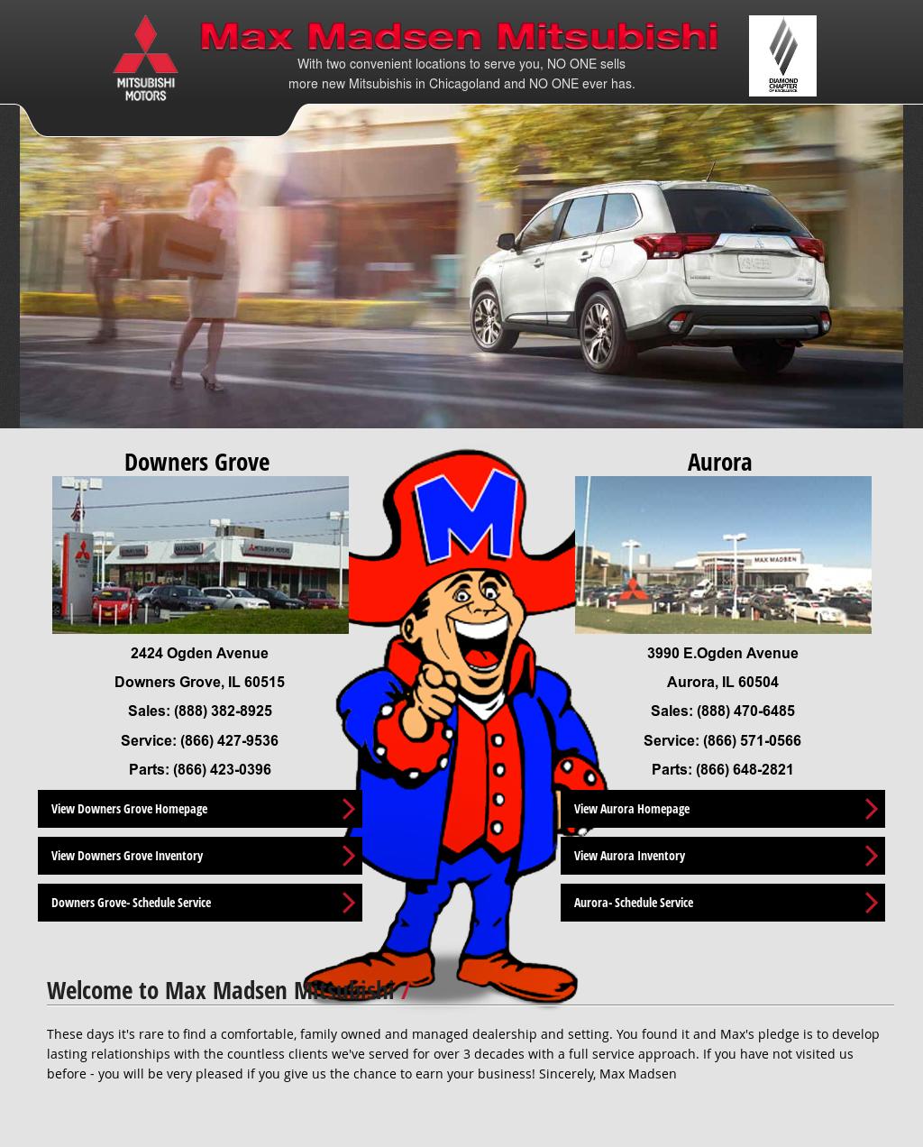 Max Madsen Mitsubishi Website History