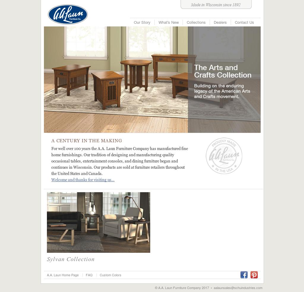 A.A. Laun Furniture Website History