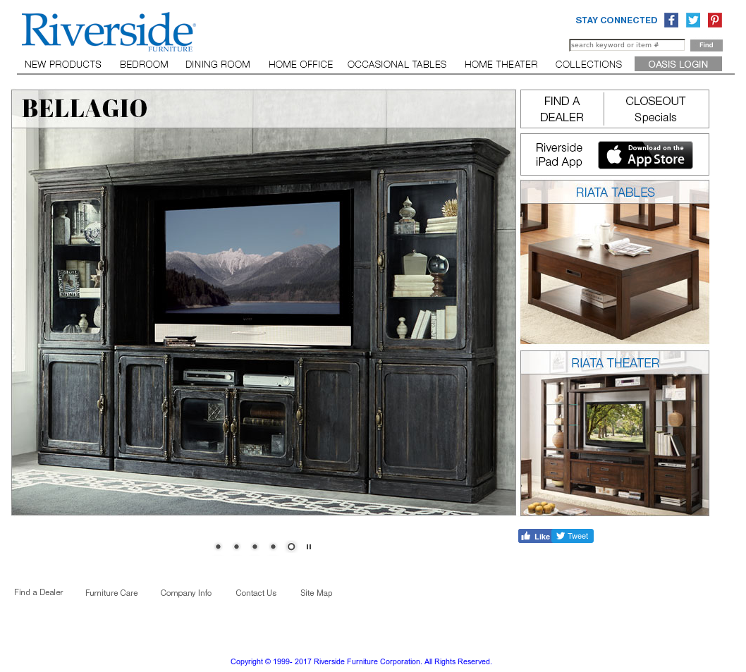 Riverside Furniture Website History