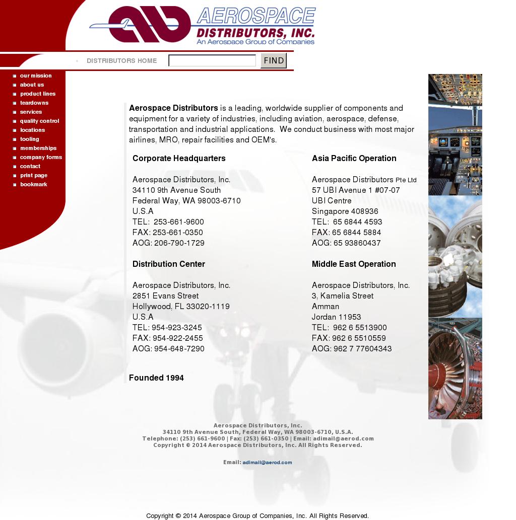 Aerospace Distributors Competitors, Revenue and Employees