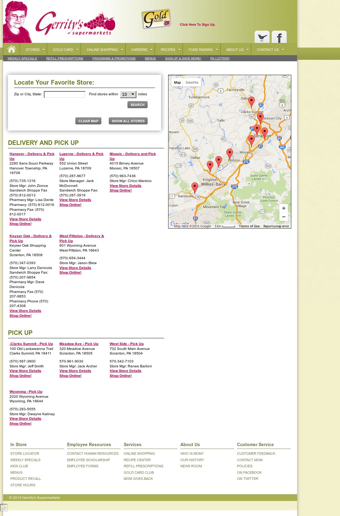 ... Gerrity's Market's grocery store in Clarks Summit every time. map