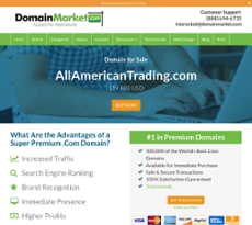 All American Trading website history