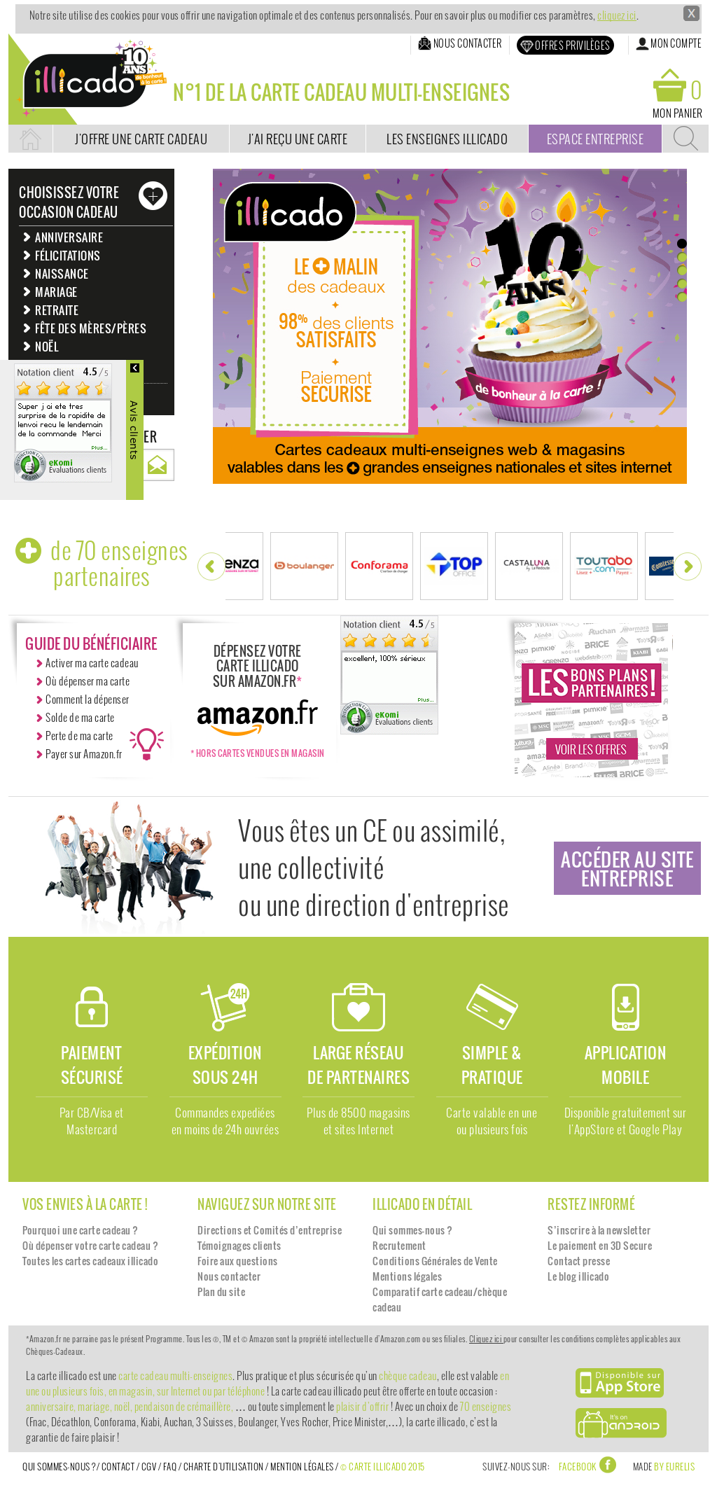 Carte Cadeau Illicado Competitors Revenue And Employees