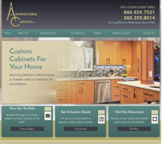 Architectural Cabinets Website History