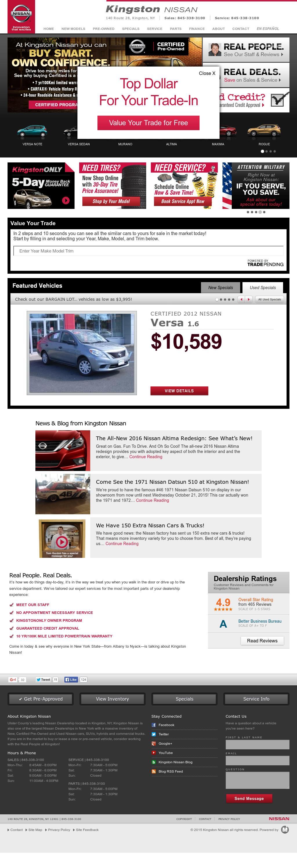 Nissan Kingston Ny >> Kingston Nissan Ny Competitors Revenue And Employees