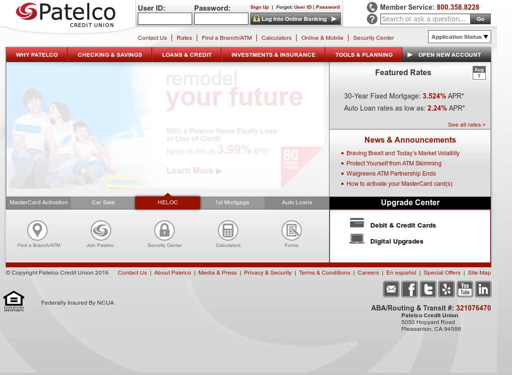 patelco credit union competitors, revenue and employees - owler