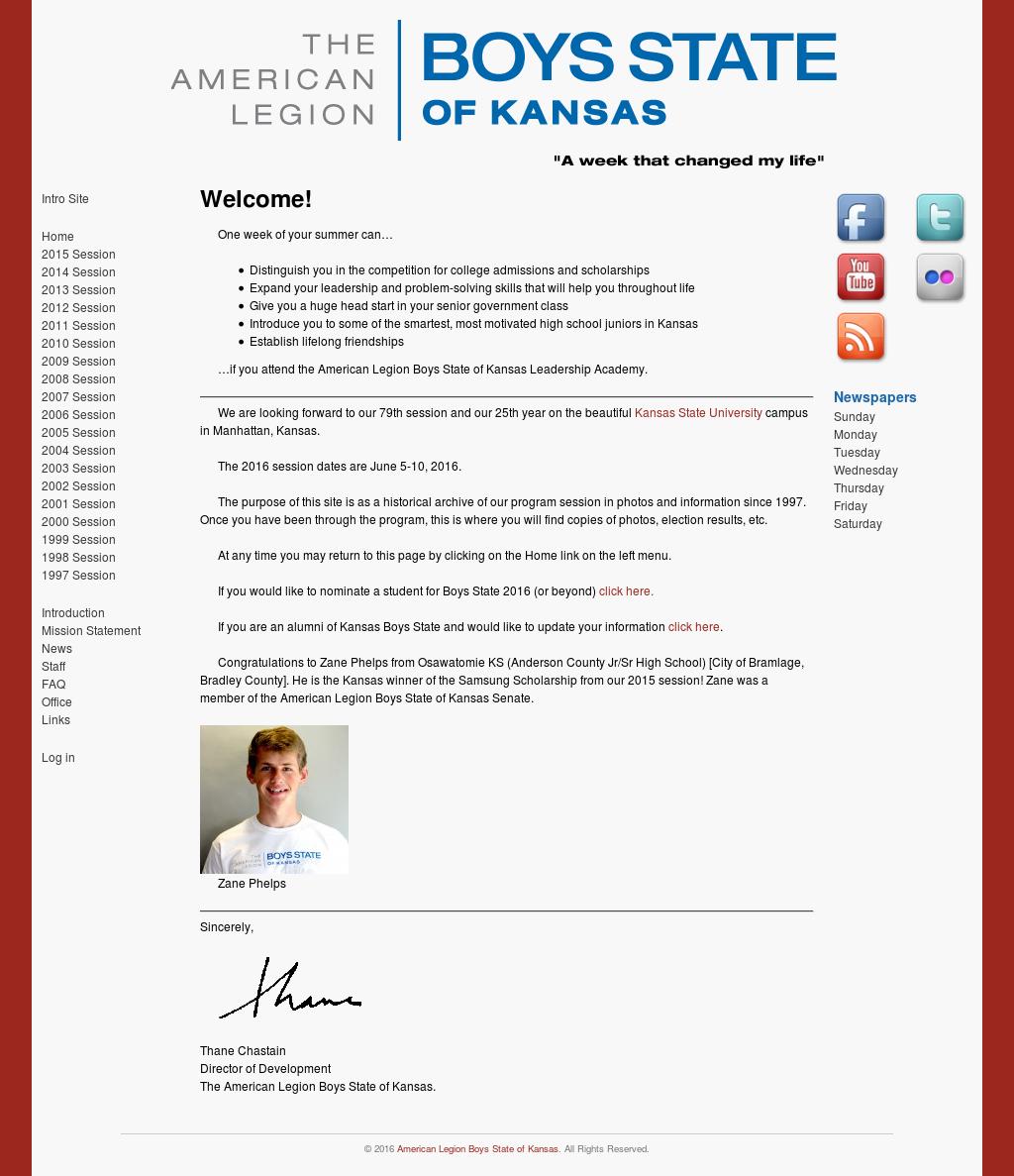 American Legion Boys State Of Kansas Competitors, Revenue