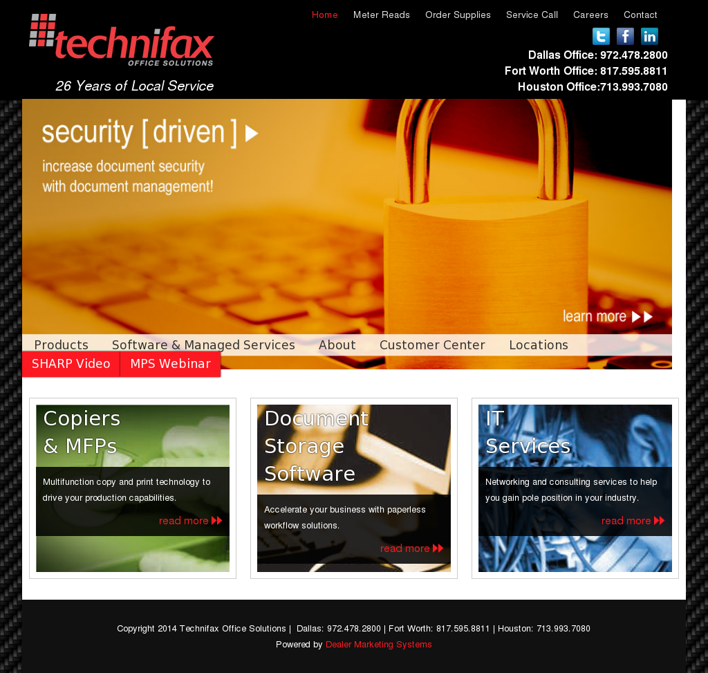 Technifax Office Solutions Competitors, Revenue and Employees