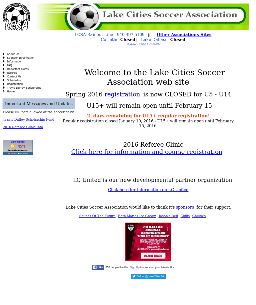 Lake Cities Soccer Association Competitors, Revenue and