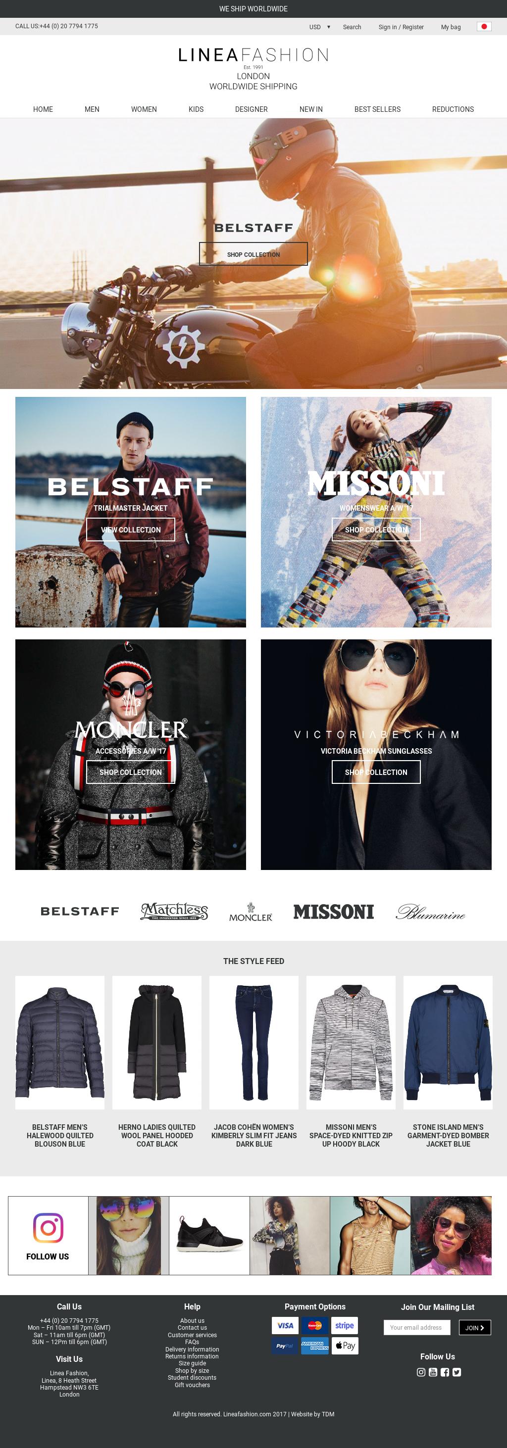 Clothes Designer Website | Linea Fashion Exclusive Designer Clothing London Fashion