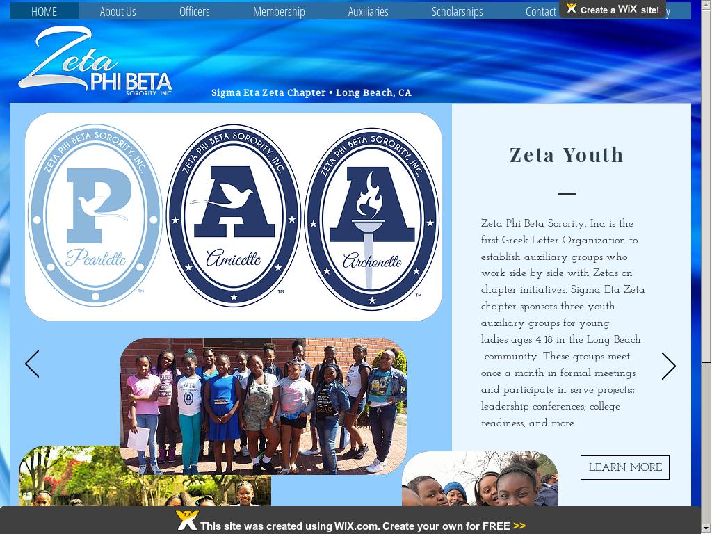 Long Beach Zetas Website History