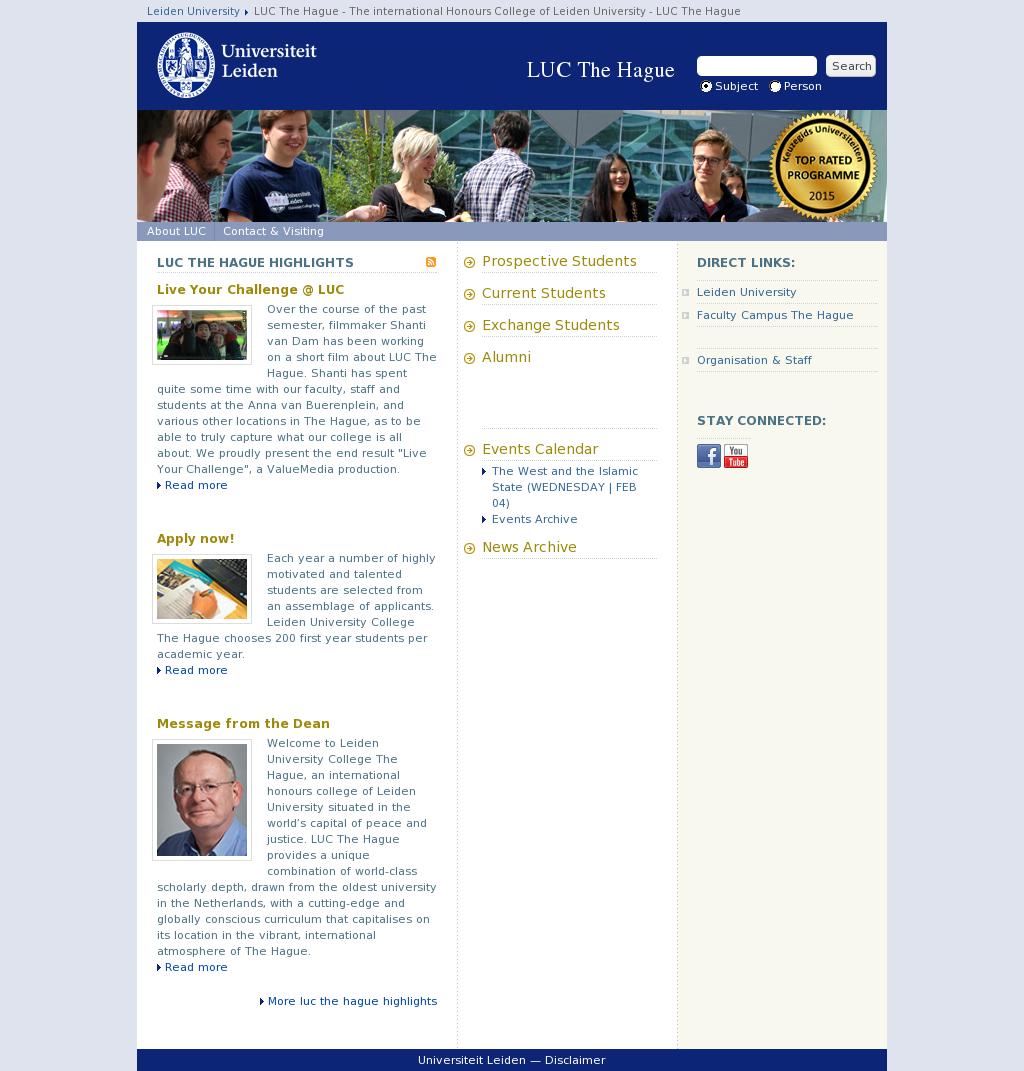 Leiden University College The Hague Competitors Revenue And